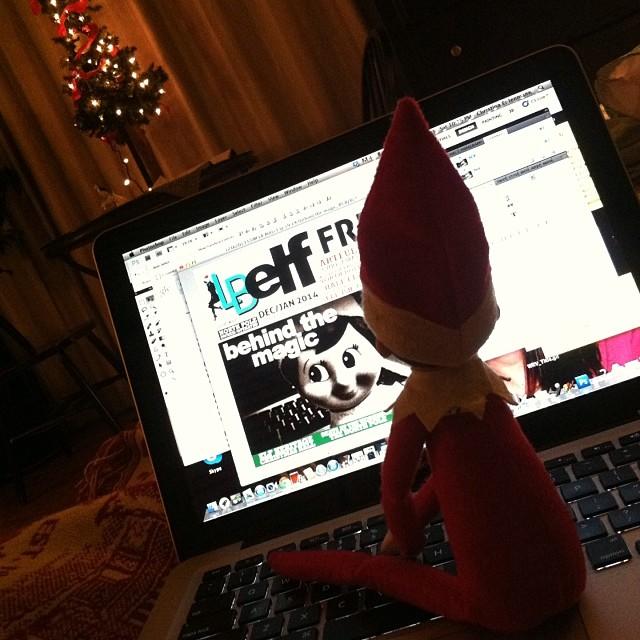 elf on computer