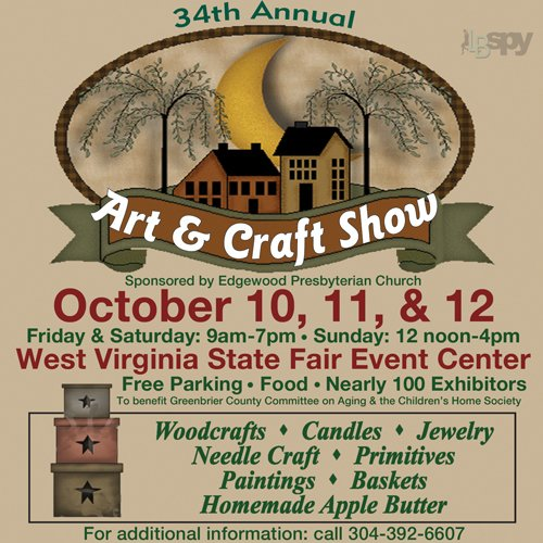 Oct 10 12 art craft show wv state fairgrounds for Craft kings wv menu
