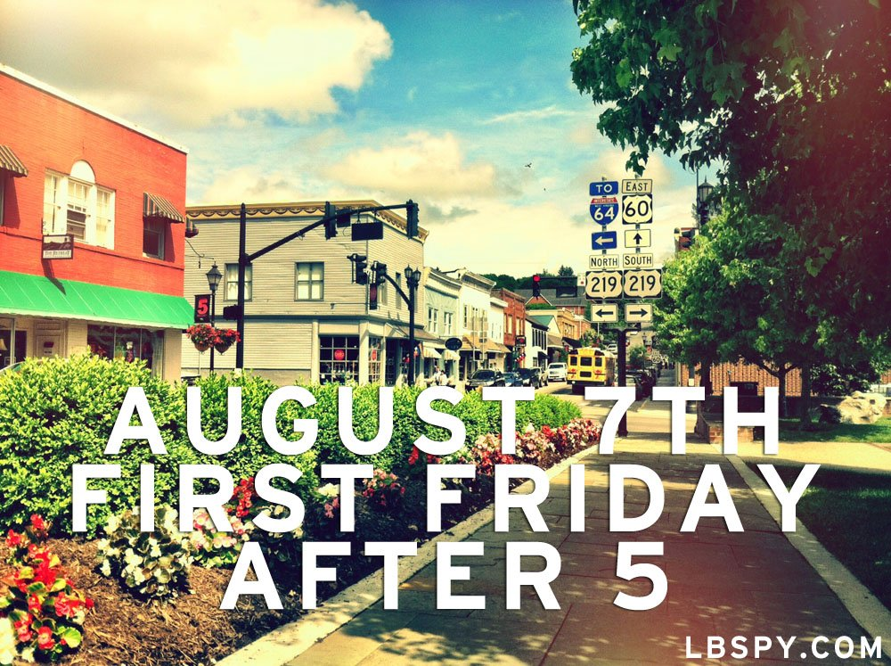 downtown lewisburg first friday august