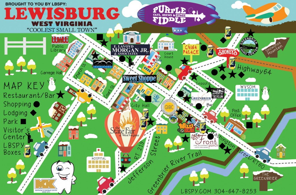 lewisburg town map