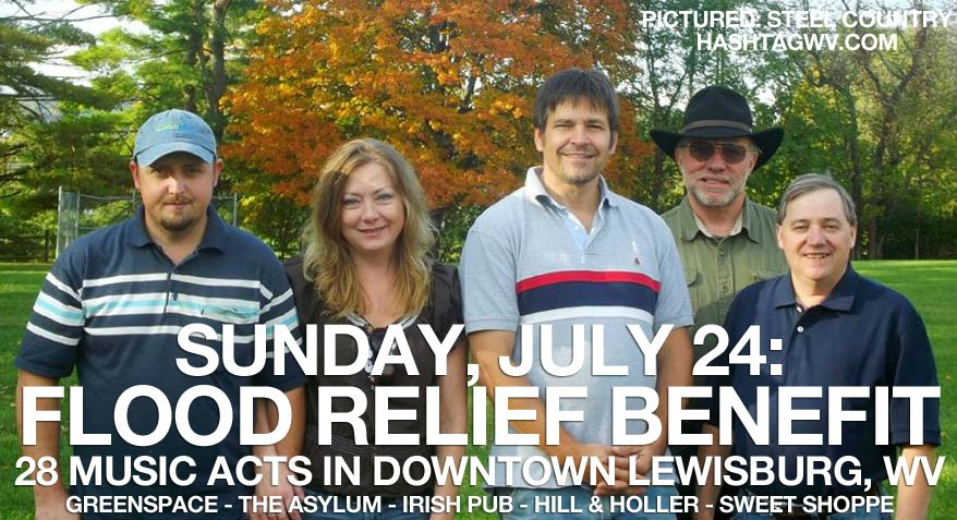 flood relief benefit lewisburg west virginia