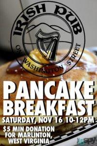 Irish Pub Pancake Breakfast lewisburg wv